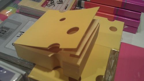 Cheese shaped sticky notes! Awesome!