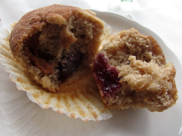 Behold, peanut butter and jelly deliciousness... now in muffin form!