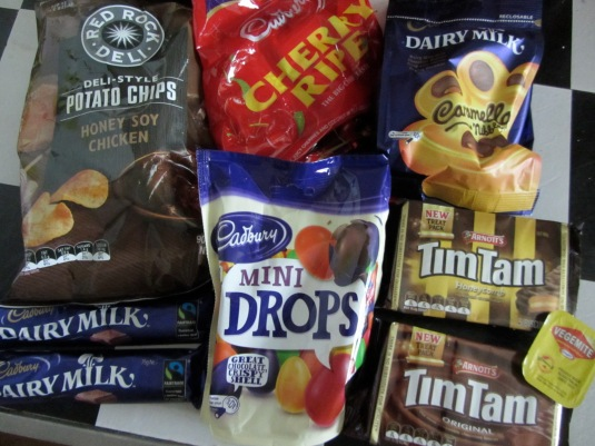 My new trove of Australian snacks and goodies