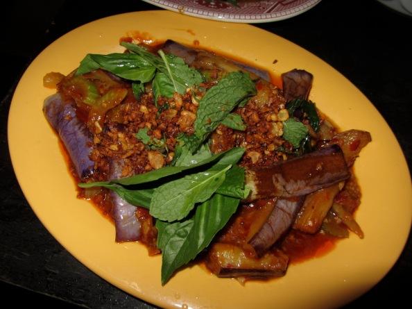 Red braised eggplant