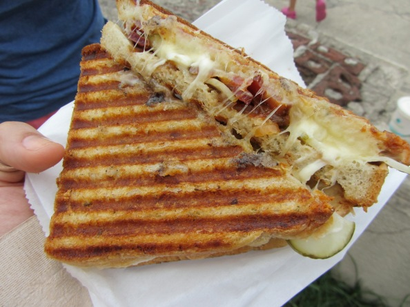 The Bacon Cheddar Blue from Milk Truck Grilled Cheese