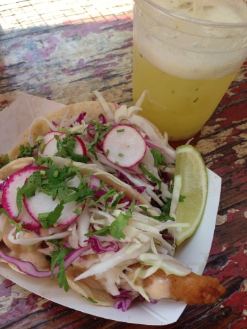 Pineapple-mint juice and tacos: perfection on a summer day.