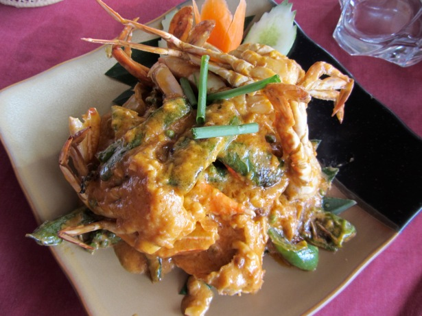 Fried crab in Kampot pepper sauce