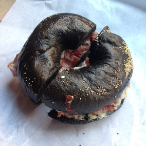 Yup, this bagel is black.