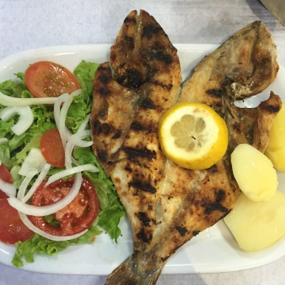 When the going gets tough, the get going... somewhere else (where they then order the simplest, tastiest fish around)