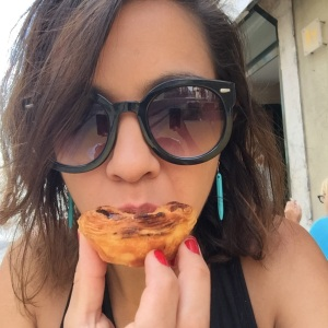 This is the face of an addict, a pastel de nata addict.